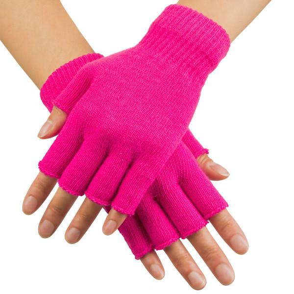 Fingerhandschuhe neon-pink