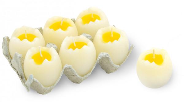 Eierkerze gekocht, 6er-Set