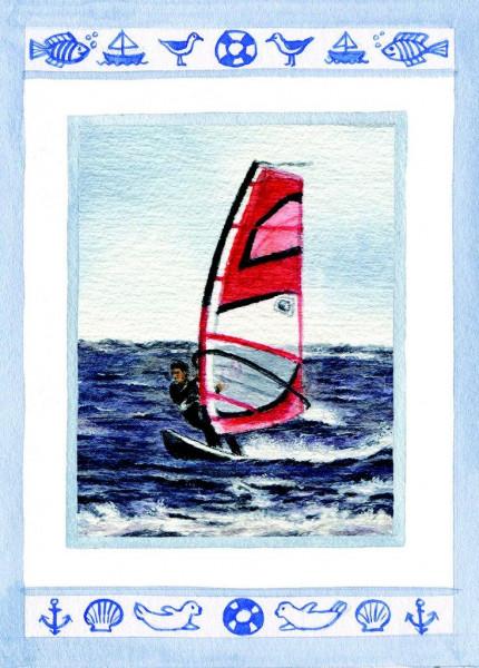 Postkarte Surfer 1