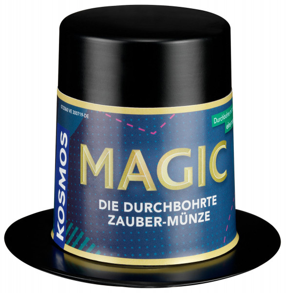 Magic Mini Zauberhut Die durchbohrte Zaubermünze