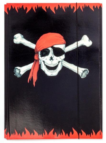 Sammelmappe A3 Piraten-Totenkopf