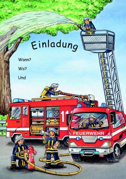 Einladungsset A5 Feuerwehr