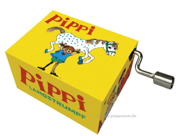 Kurbelspieluhr Pippi Langstrumpf