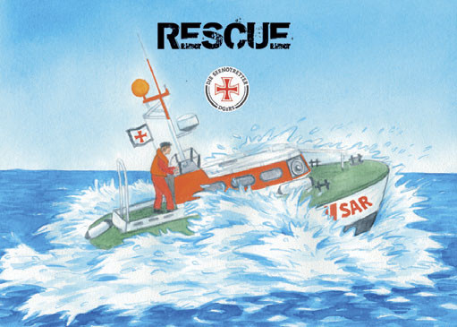 Ausmalblock A6 RESCUE-Rettungskreuzer