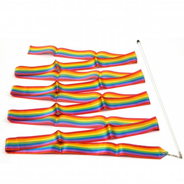 Gymnastikband, 4 m, Regenbogen