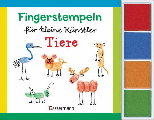 Fingerstempel für kleine Künstler - Tiere