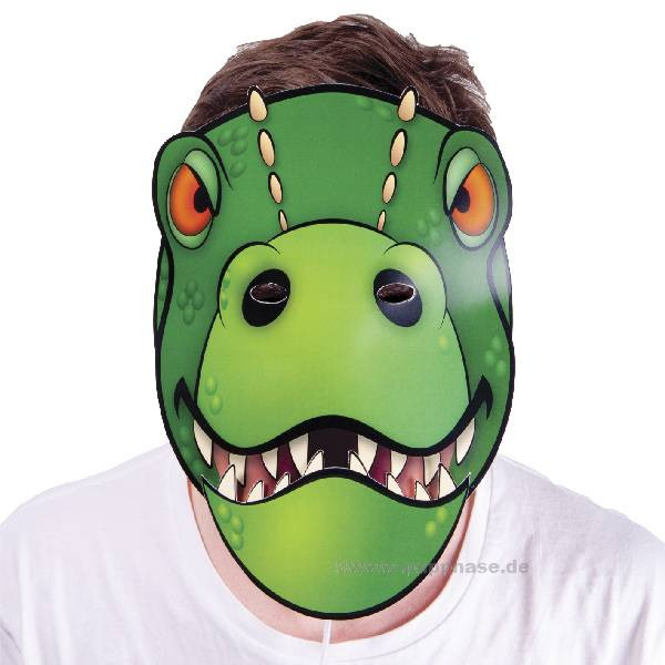 Maske mit beweglichem Mund, Dino