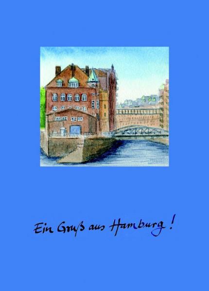 Postkarte A6 Speicherstadt