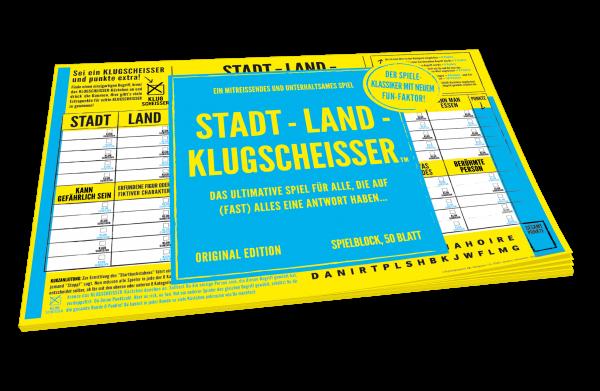 Spielblock Stadt - Land - Klugscheisser™
