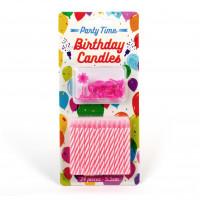 Geburtstagskerzen gestreift