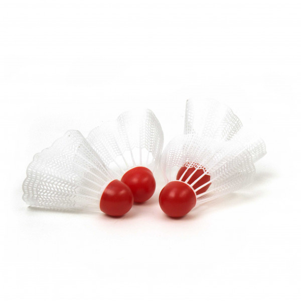 Federbälle weiß, 4 Stück