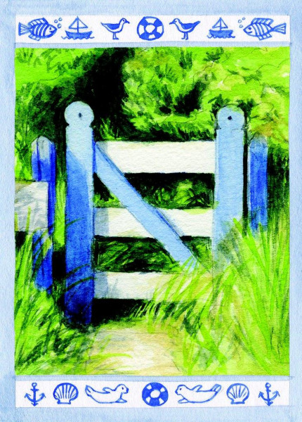 Postkarte Gartentor