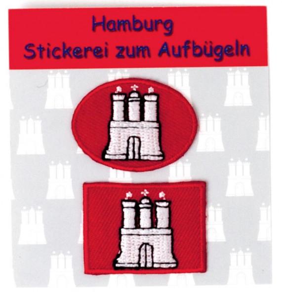 Stickerei zum Aufbügeln Hamburg klein