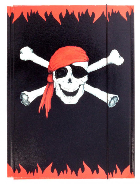 Sammelmappe A4 Piraten-Totenkopf