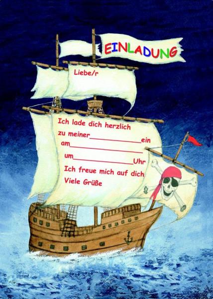 Einladungsset A5 Piraten-Meer