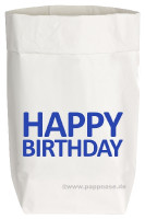 Paper Bag, blau, small, Happy Birthday