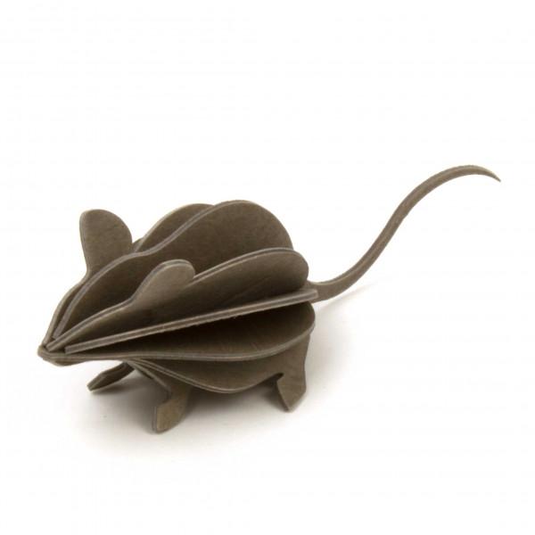 Lovi Holzfigur graue Maus