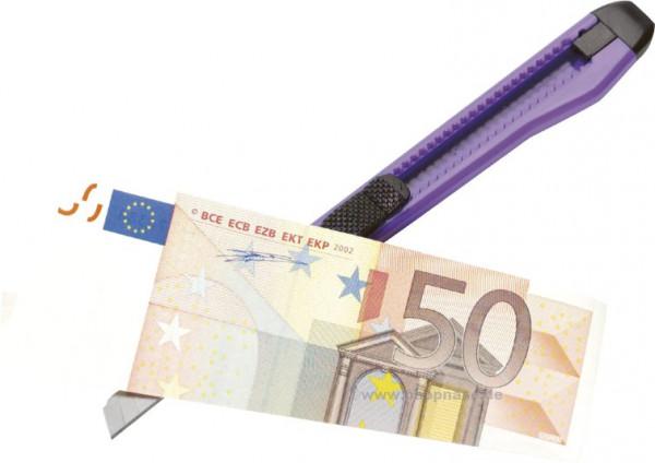 Geldscheinzerschneiden