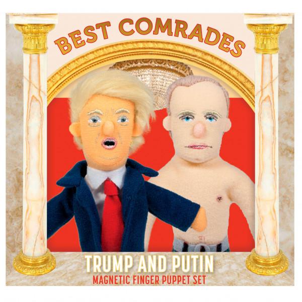 Fingerpuppen Genossen Putin und Trump