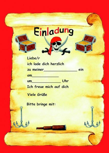 Einladungsset A5 Piratenflagge