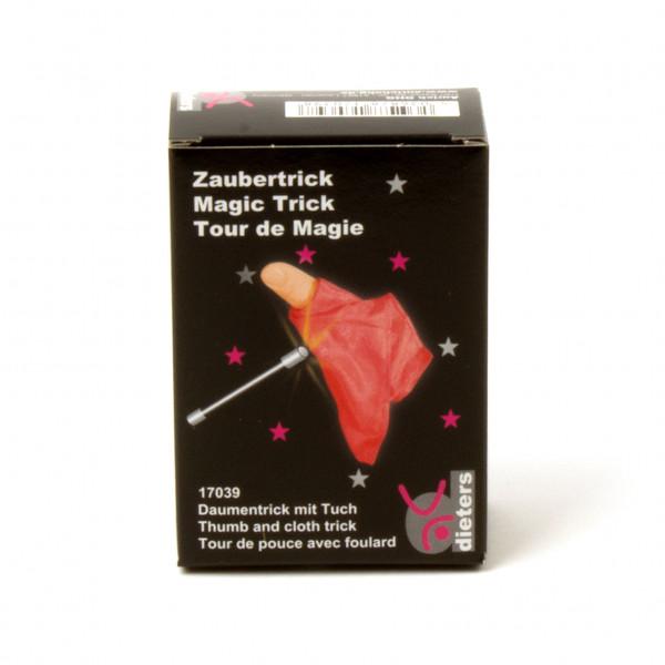 Zaubertrick Daumen mit Tuch