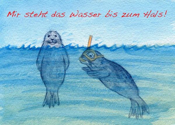 Postkarte A6 Robben, Mir steht das...