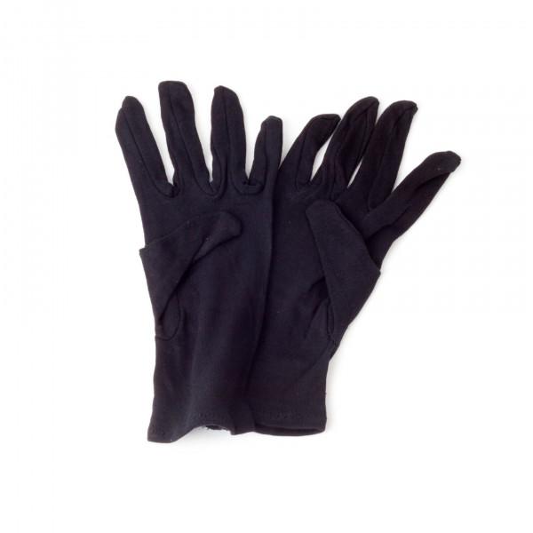 Handschuhe - Baumwolle kurz schwarz