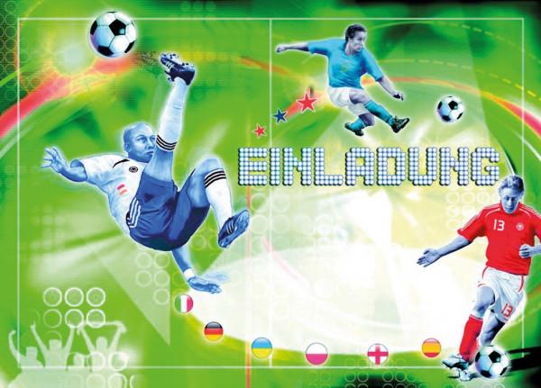 Einladungsset A5 Fußball