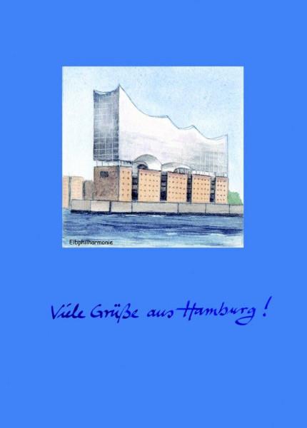 Postkarte A6 Elbphilharmonie