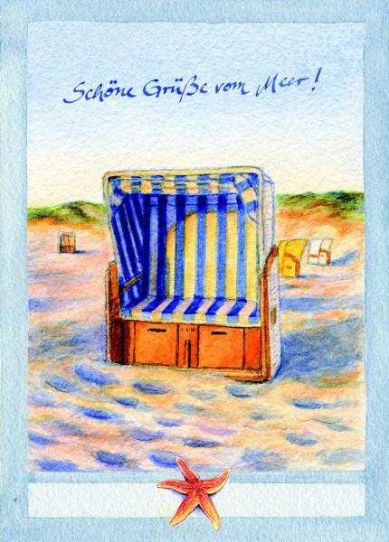 Postkarte Strandkorb-vorne