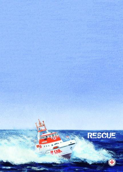 Briefpapier Block A4 RESCUE-Rettungskreuzer