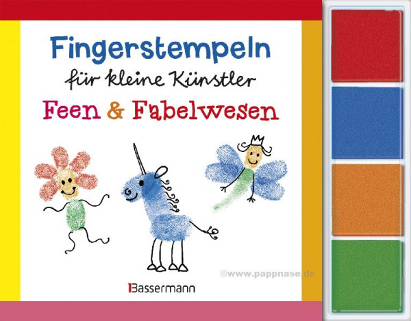 Fingerstempeln für kleine Künstler -Feen + Fabelwesen