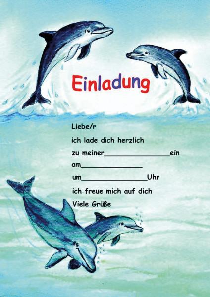 Einladungsset A5 Delfine