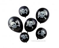 Piratenballons, 6 Stück