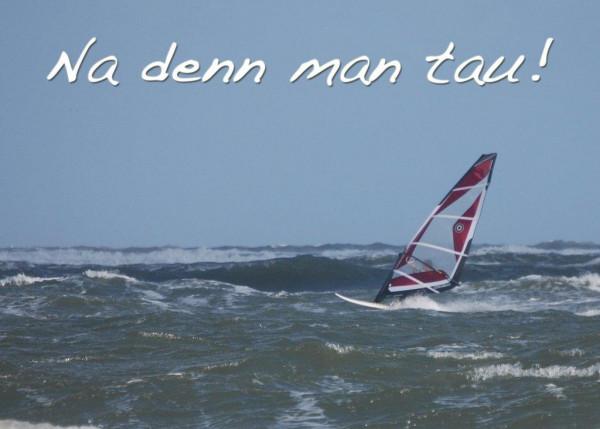 Foto-Postkarte A6 Surfer