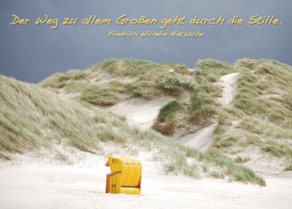 Foto-Postkarte A6 Strandkorb