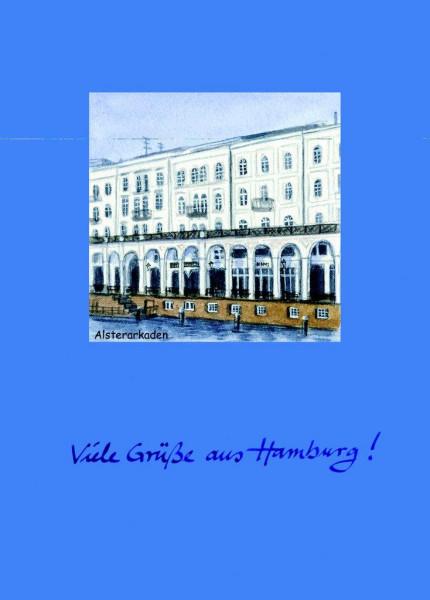 Postkarte A6 Alsterarkaden