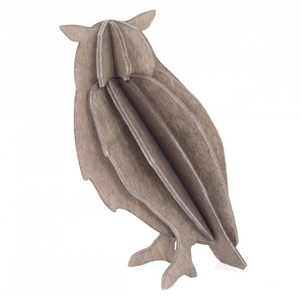 Lovi Holzfigur Eule grau
