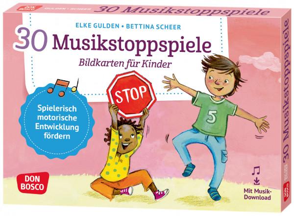 Musikstoppspiele Bildkarten für Kinder