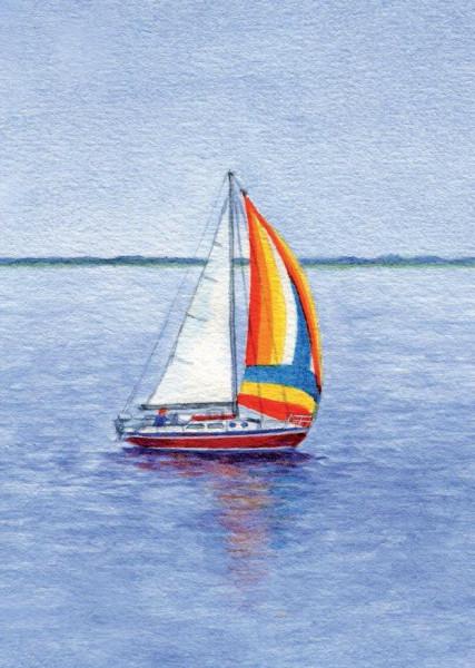 Postkarte A6 Segelboot