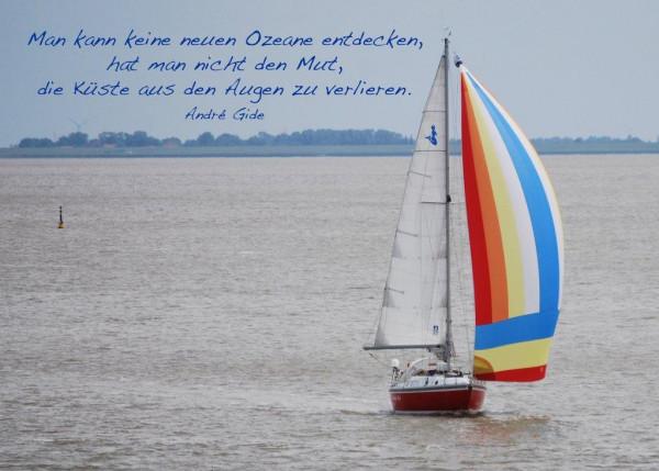 Foto-Postkarte A6 Segelboot