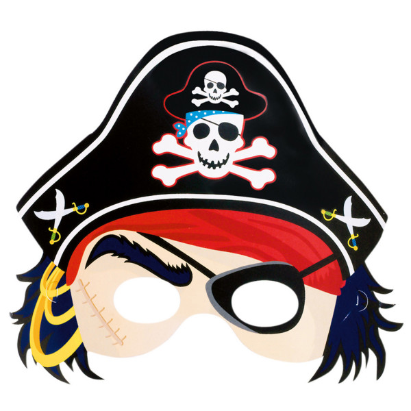 Papiermaske Pirat