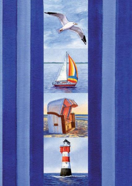 Postkarte A6 Küstenimpressionen