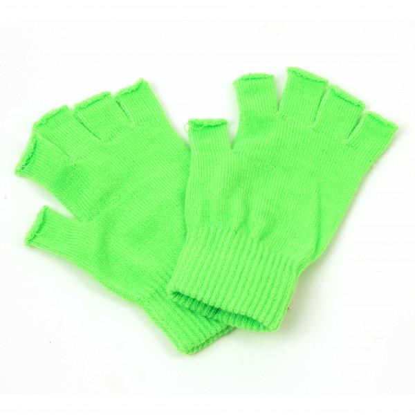 Fingerhandschuhe neon-grün