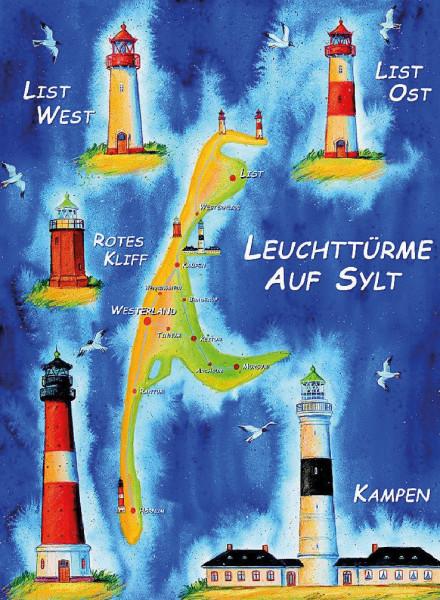 Poster Leuchttürme auf Sylt