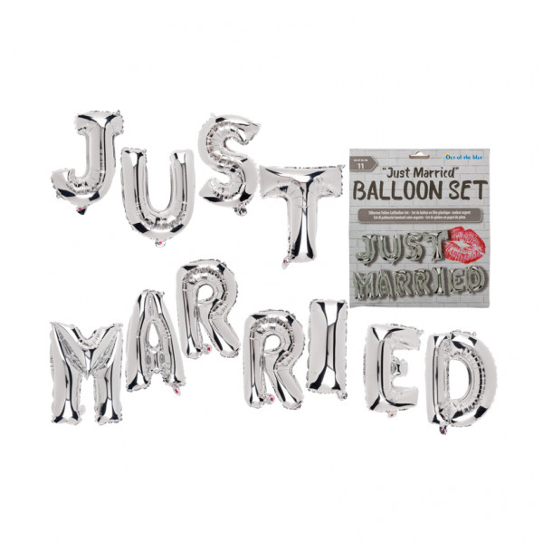 Ballon-Girlande Just Married