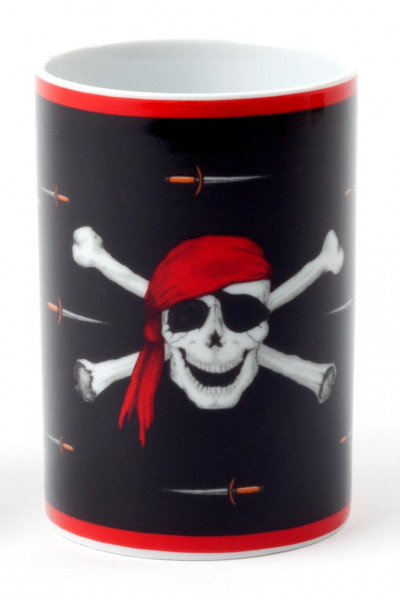 Porzellanbecher Piratenflagge 0,25 l