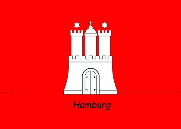 Postkarte A6 Hamburg Wappen