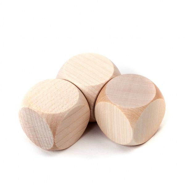 Würfel Holz neutral 30 mm