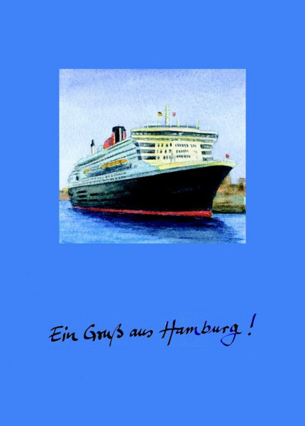 Postkarte A6 Queen Mary 2